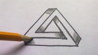 """Aprende a dibujar """"El Triangulo Imposible"""""""
