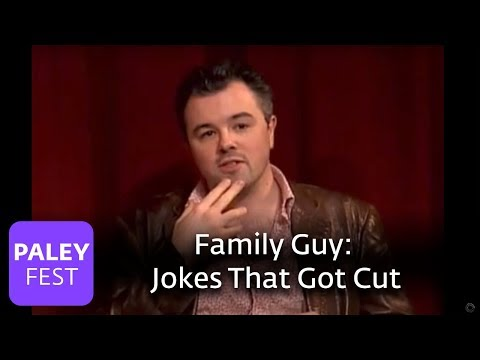 "Family Guy - Writers Share Jokes That Got Cut (Paley Center Interview), Family Guy Creator/executive producer Seth MacFarlane and Writer/Producer Alex Borstein (""Lois Griffin"") discuss the jokes that don't make it on to the air. ..."
