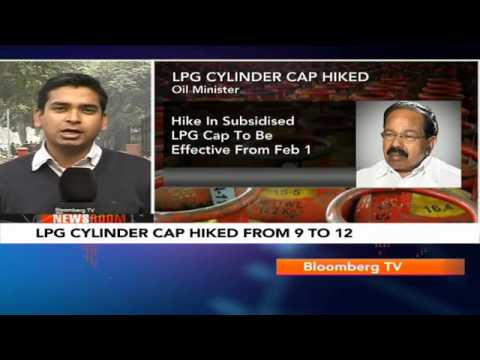 Newsroom- LPG Cylinder Cap Hiked From 9 To 12