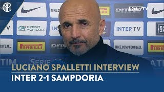 "INTER 2-1 SAMPDORIA | LUCIANO SPALLETTI INTERVIEW: ""We won thanks to our professionalism"""