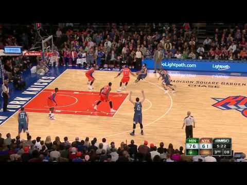 2013.11.3 NBA Minnesota Timberwolves vs New York Knicks Ricky Rubio highlights