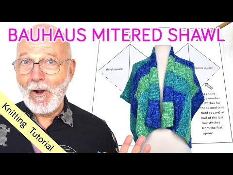 Knitting Tutorial - Bauhaus Mitered Shawl