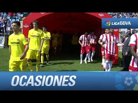 Todas las ocasiones de UD Almería (0-0) - Villarreal CF
