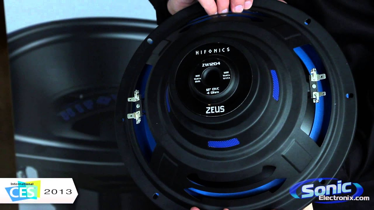 hifonics zeus car subwoofer maxxsonics ces 2013 youtube. Black Bedroom Furniture Sets. Home Design Ideas