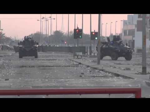 Bahrain - Violent clashes after the suppression of protests in Sitra