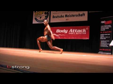 Miles Stoval with his outstanding rutine at the 2011 WNBF natural bodybuilding show Germany