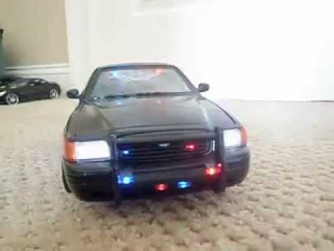 for sale my 1 18 black undercover custom police car with. Black Bedroom Furniture Sets. Home Design Ideas