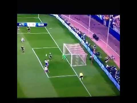 Atlético Madrid vs  Barcelona, 2014 UEFA Champions League  KOKE GOAL