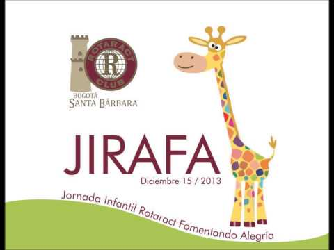 Invitación a JIRAFA Club Rotaract Bogotá Santa Barbara   Caracol Radio   Sanamente 28 11 2013