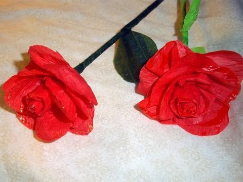 How to make crepe paper roses / flowers