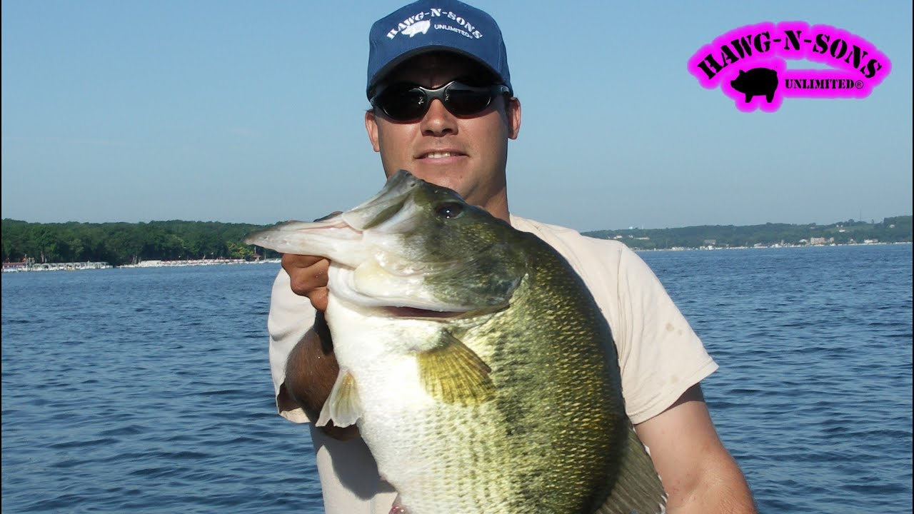 Catching biggest lake geneva bass fishing hawgnsonstv for Wisconsin out of state fishing license
