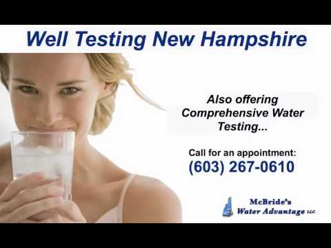 Well Testing New Hampshire - Call (603) 267-0610