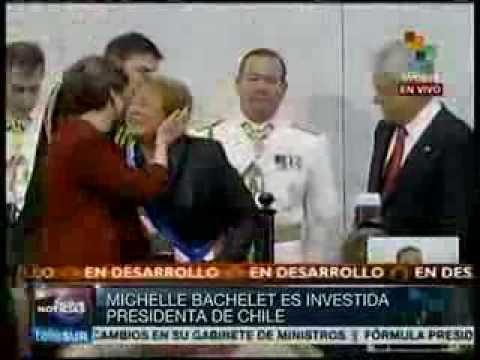 Michelle Bachelet es investida presidenta de Chile por segunda vez