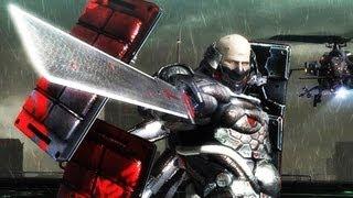 Metal Gear Rising Raiden VS Sundowner (Boss Fight Video Walkthrough)