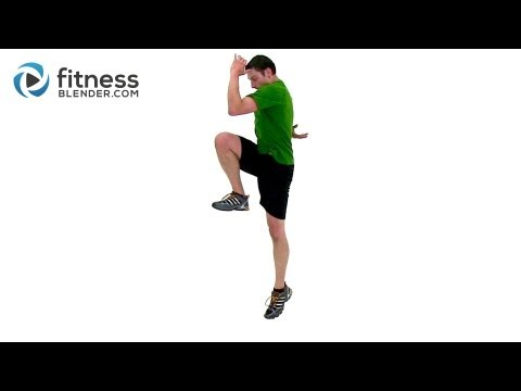 Plyometric and Cardio HIIT for Legs - Fitness Blender HIIT Plyo Workout