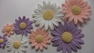 Cooking | fiori in pasta di zucchero margherite flower | fiori in pasta di zucchero margherite flower