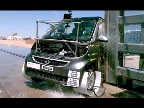 2013 Smart Fortwo Electric Drive | Pole Crash Test by NHTSA | CrashNet