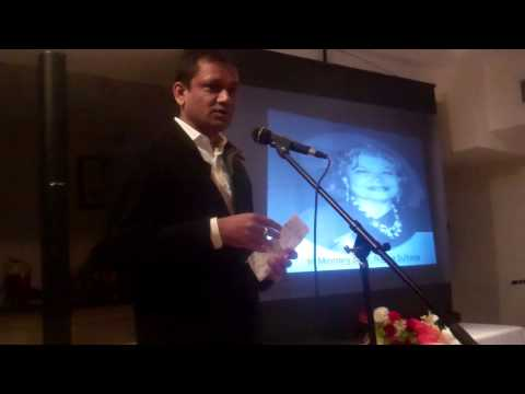11  Rajender Dichapally Paying Tributes to Dr  Najma Sultana, New York Dec  8, 2013