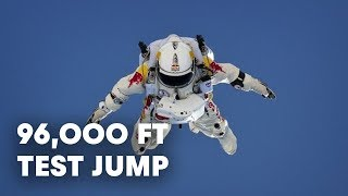 96,000 Ft Test Jump Success Red Bull Stratos 2012