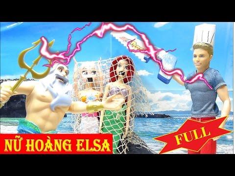 Sushi nàng tiên cá (full) Nữ hoàng băng giá Frozen Elsa - Công chúa búp bê đồ chơi baby doll