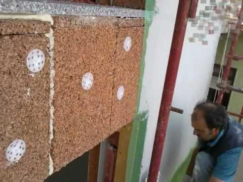 Isolamento termico a cappotto in sughero youtube - Spessore intonaco interno ...