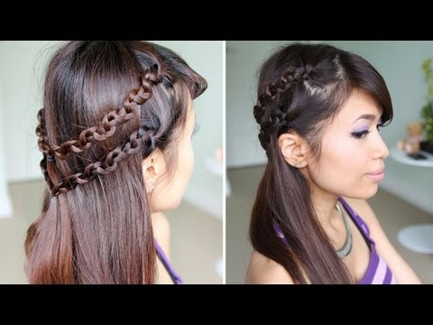 How to: Snake Braid Headband Hairstyle for Medium Long Hair Tutorial