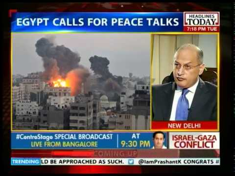 Israel-Gaza conflict: Egyptian envoy calls for peace