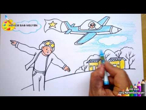 Vẽ tranh Ước mơ của em/How to draw Your dream