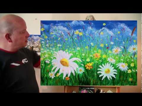 The Daisy Field acrylic painting by Steve Buchanan
