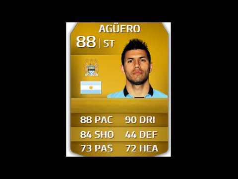 FIFA 14 | Player Review : Sergio Aguero 88 (In- Game Stats and Gameplay)