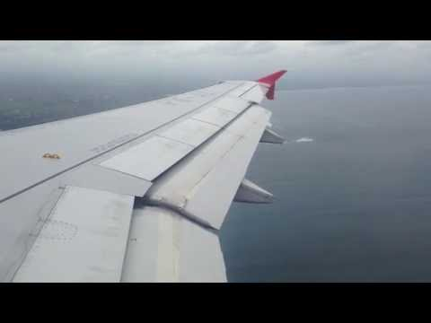 Landing in Bali with Air Asia A320