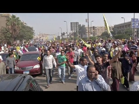 Muslim Brotherhood protests in Egypt ahead of Monday's trial of deposed President Mohamed Mursi