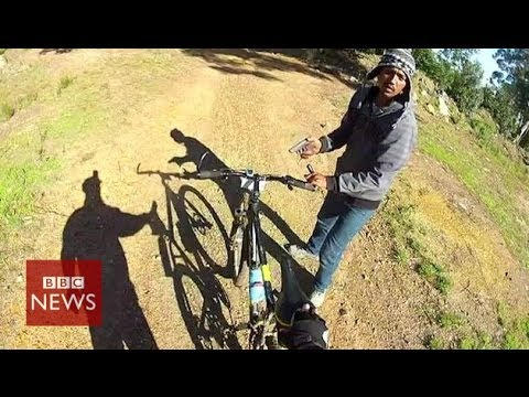 Bike robbery caught on GoPro camera
