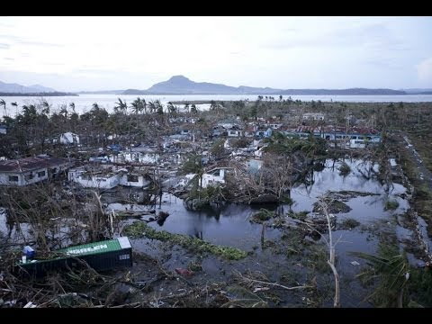 Super Typhoon Haiyan: Aerial view of Philippines damage DESTRUCTION [+10000 DEAD]