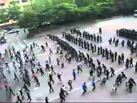South Korean Riot Police Training