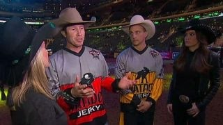 Professional bull riders explain national anthem pledge