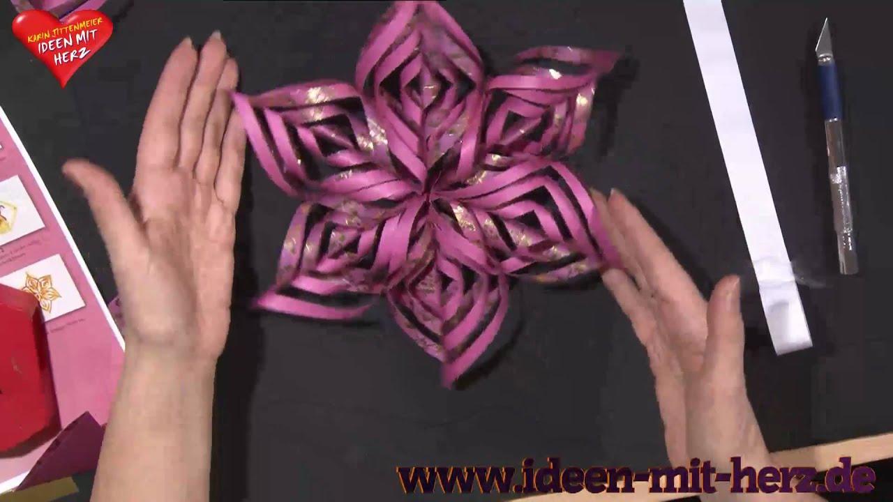 ideen mit herz origami stern ornamentstern youtube. Black Bedroom Furniture Sets. Home Design Ideas