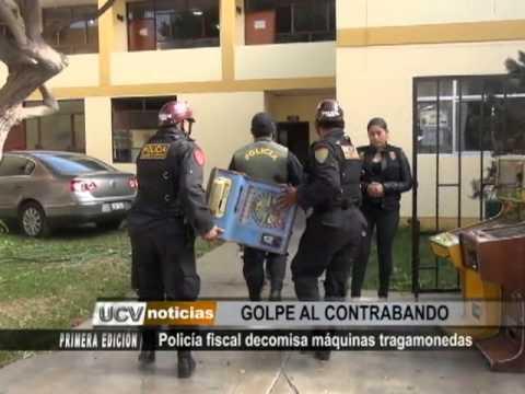 Policía fiscal decomisa máquinas tragamonedas