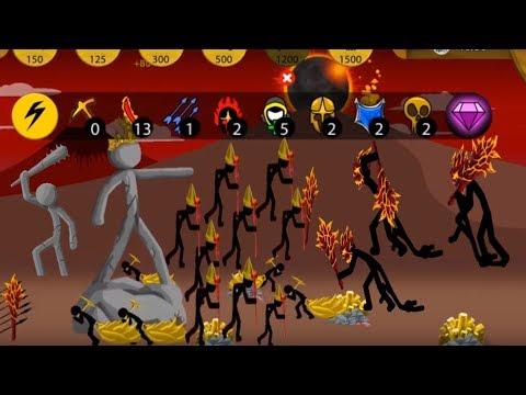 9 Magikill Classic VS Army LAVA !! Stick War: Legacy