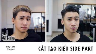 Làm sao để đẹp trai? | Vlogger Huy Cung | Cắt tạo kiểu SIDE PART Khói xanh