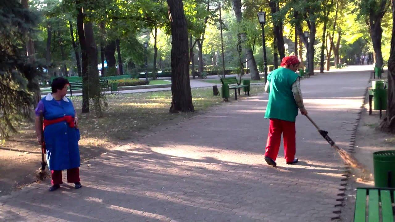 Fac praf în parc de dragă dimineața