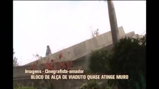 Parte de al�a implodida cai e quase atinge muro de pr�dio na Avenida Pedro I, em BH