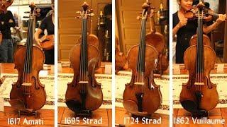 Demonstration of Stradivari, Amati and Vuillaume violins from Florian Leonhard