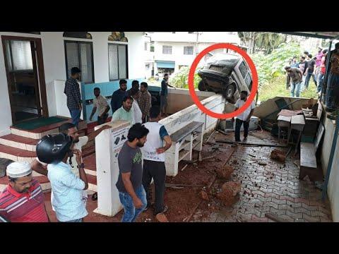 Maruti car hilarious CCTV footage, Maripalla