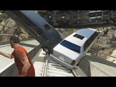 GTA 5 - EXTREME TRAIN STUNTS - (GTA V - Funny Moments #6) - *NO SPOILERS*