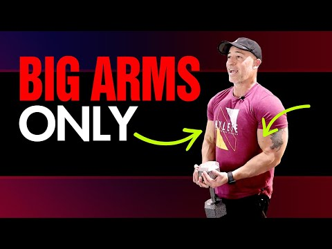 How To Grow Your Arms With Dumbbells ONLY! (Full Workout and Exercise Demonstrations)