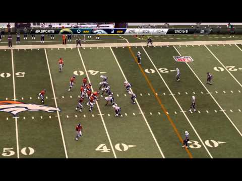 NFL 2013 TNF Week 15 - San Diego Chargers vs Denver Broncos - 2nd Qrt - Madden 25 PS4 - HD