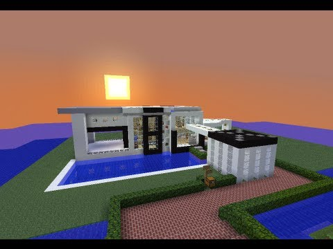 Minecraft casa moderna modern house descarga for Casas modernas 6 minecraft