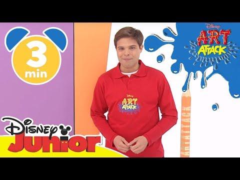 Art Attack Bastelclip #11 - Das Wasserhahn-Schild | Disney Junior