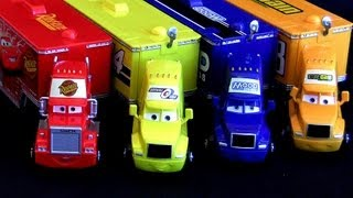 4 Pixar Trucks Haulers From Cars Mack Hauler Rust-eze